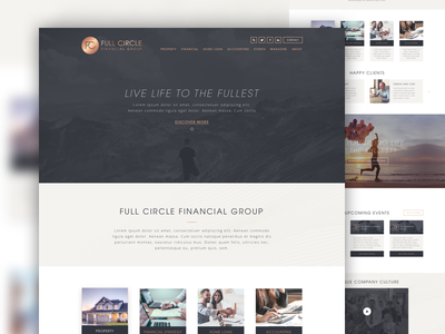 Full Circle Financial Group clean financial sketch redesign website