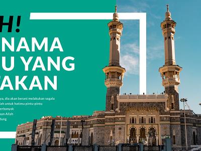 Iqro' Movement - Outdoor Banner islam banner design branding