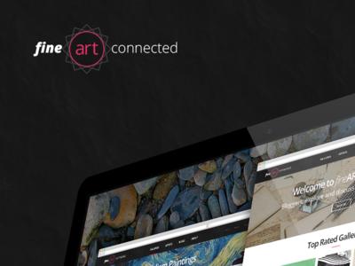 Fine Art Connected landing blog ui design