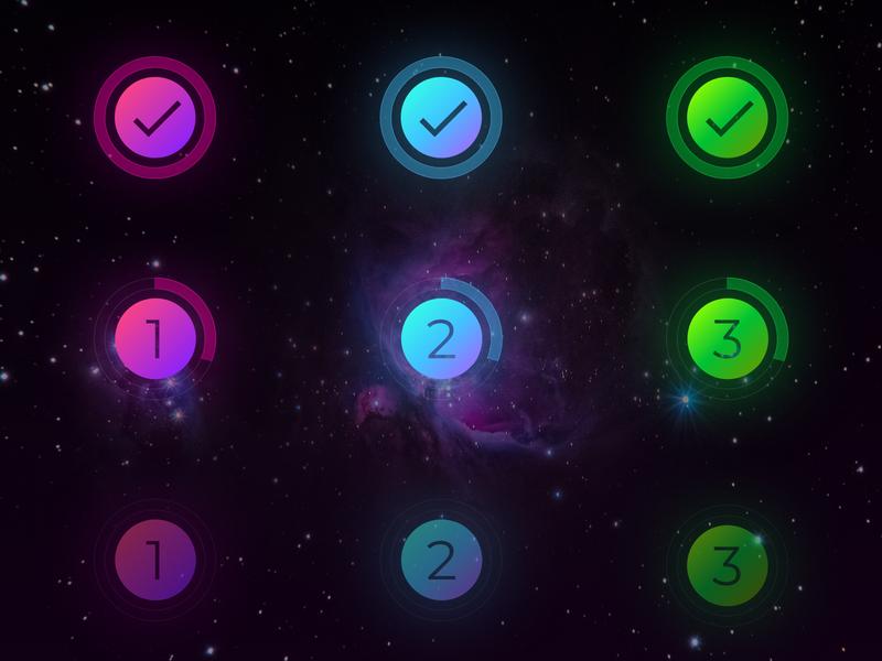 Circular progress bar indicators progressbar supergiant dark ui design