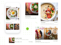 Food Delivery App - Components components visual design creative ux ui restaurants offers home screen food app