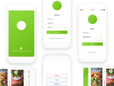 Food Delivery App   Splash  Signup  Signin design visual ux ui restaurants signin signup splash app food creative
