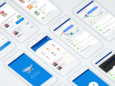 Drone Delivery Service ui design visual design order tracking compare products product categories delivery service drone