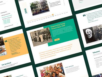 Seva Sadan Society Pages foundation organization stories donations volunteer responsive non-profit interface design web ngo ux ui website