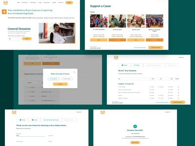 Seva Sadan Society - Donation Flow foundation organization stories donations volunteer responsive non-profit interface design web ngo ux ui website