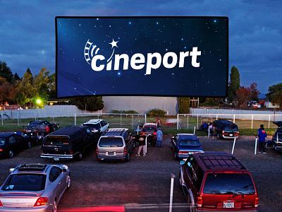 Cineport logo design web branding logo design website