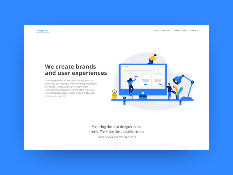 Designaren Website web design modern minimalistic interface illustration branding ui ux website