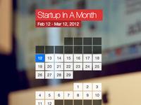 Startup progress calendar