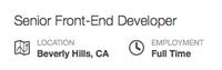 Job page header