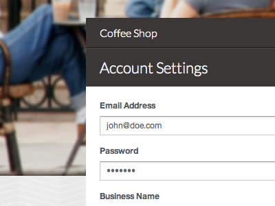Account Settings account settings form applytohere input fields subtlepattern