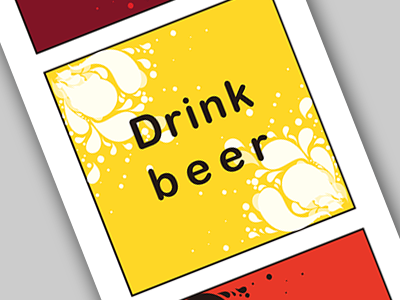 Just Drink poster water psd drink ui ux