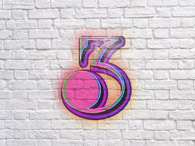 3 handlettering 36daysoftype branding logo 3 three typography lettering