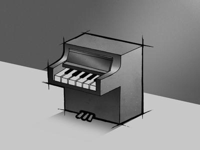 1 branding logo handlettering perspective white black music piano typography lettering