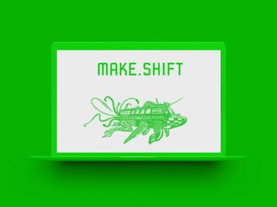 Makeshift Website laptop art non-profit green website