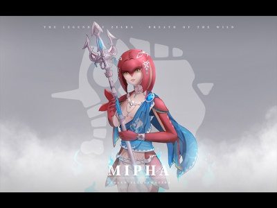Mipha character game zelda mipha illustration