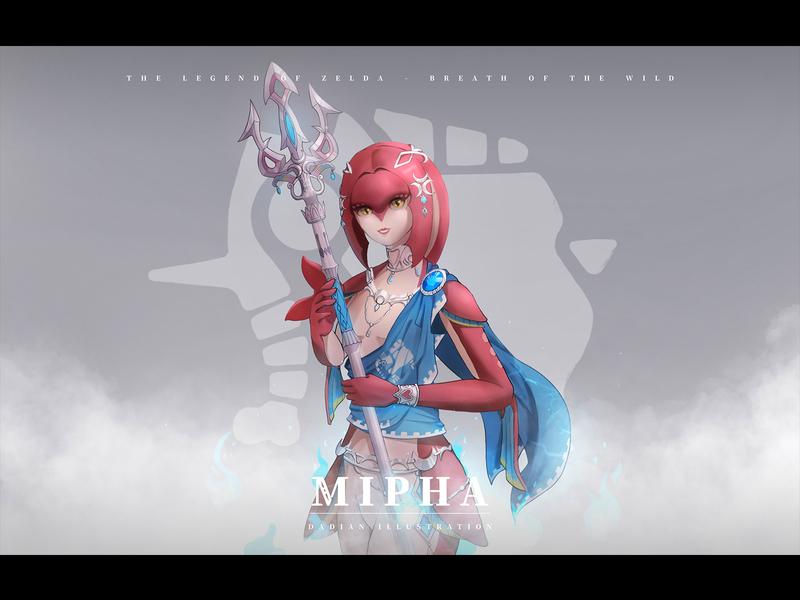 Mipha character game zelda mipha illustration