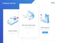 Medical app start page