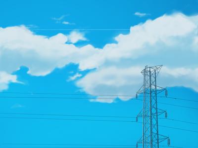 Blue Sky light wire sky cloud blue