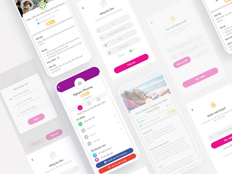 Yeah1 - X Mobile App Design uidesign app design ui