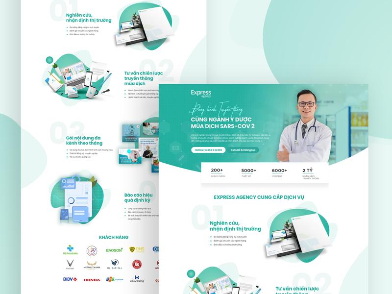 Medical Landing Page - Express Agency covid-19 website uiux ui uidesign landing page pharmacy medical medical design