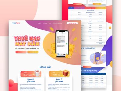 Mobifone - Landing page landing page design ux uiux landingpage website uidesign design ui