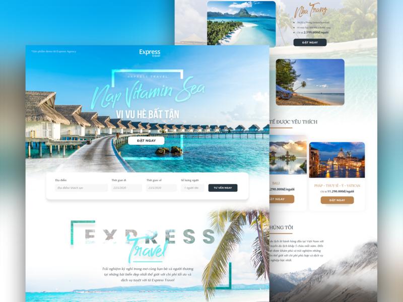 Express Travel - Landing page webdesign travelling travel uiux landingpage uidesign design ui