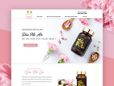 Dao Nu An Beauty Pharmacy pharmacy web design beauty landingpage