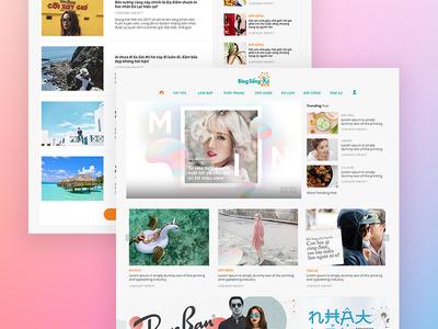 Blog Song Vui - Beauty Blog articles ui webdesign website blog