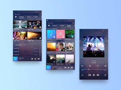 Samsung music App UI design app design mobile ui