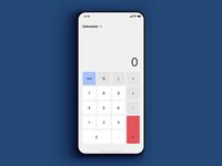 Daily UI 004 - Calculator happy hacking apple ui sketch simple material interface dailyui app ux design