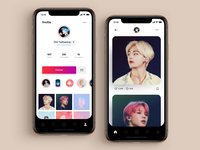 Daily UI 006 - BTS User Profile bts v user profile profile instagram bts icon vector illustration interface apple ui sketch simple material dailyui app ux design