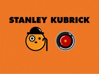 Stanley Kubrick characters clockwork orange 2001: a space odyssey hal stanley kubrick illustration