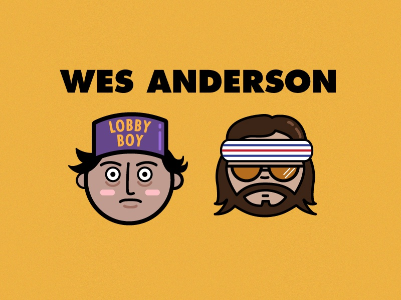 Wes Anderson characters  royal tenenbaum richie tenenbaum lobby boy wes anderson the grand budapest hotel illustration