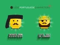 Lego Portuguese Characters 1-6