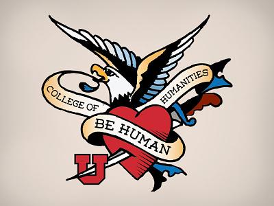 Humanities Tattoo humanities tattoo weston eagle heart university of utah college of humanities sailor jerry