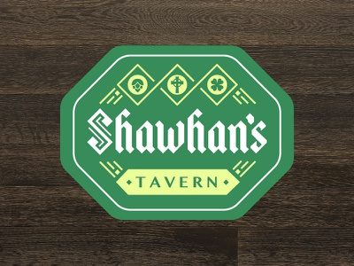 Shawhan's Tavern Logo typography blackletter celtic branding logo irish