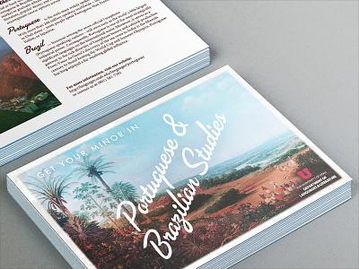 International Studies Postcard print vintage travel postcard