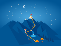 Intel Mountain Climbing Illustration