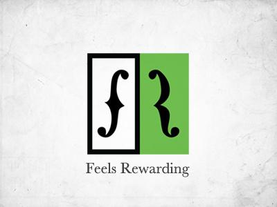 Feels Rewarding Logo logo identity feels rewarding