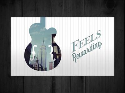 Feels Rewarding Business Card guitar pinstripe business card feels rewarding