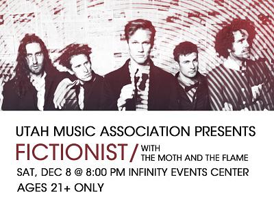 Fictionist Gig Poster poster flyer photo edit typography music avant garde fictionist utah music association
