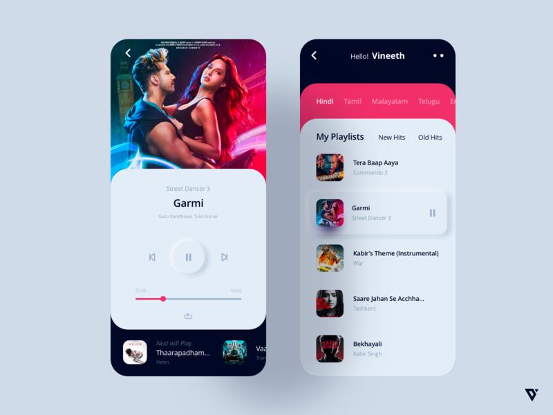 Music App webdesign ui ux