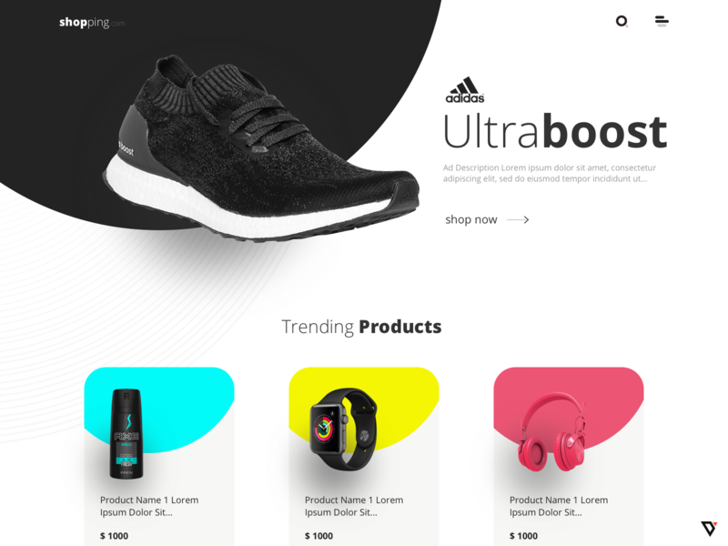 Desktop Website Design ecommerce design ecommerce webdesign design ux ui
