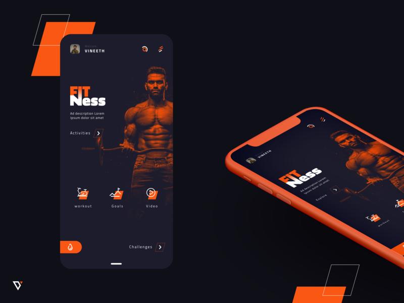 Fitness App appdesign app webdesign design ux ui