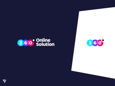 360 Degree Online Solution Logo Design