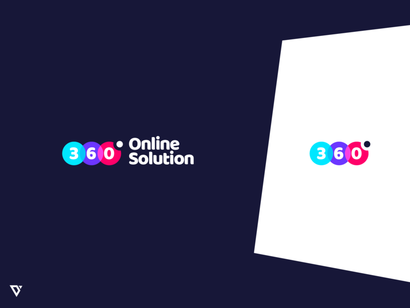 360 Degree Online Solution Logo Design branding logodesign logo
