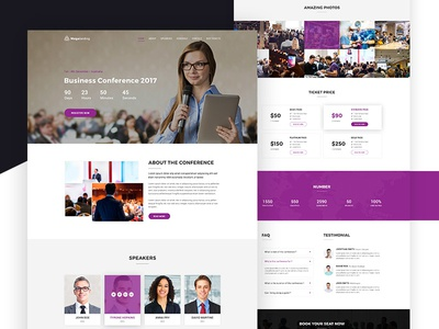MegaLand V.2- Event Landing Page Template by Ecology Theme - Dribbble