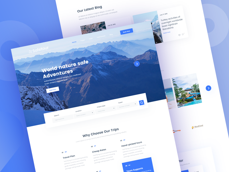Safetour - Tour & Travel Booking Template V-1 by Ecology Theme ...
