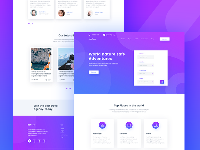 Safetour - Tour & Travel Booking Template V-5 by Ecology
