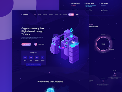 Cryptocurrency Landing Page template